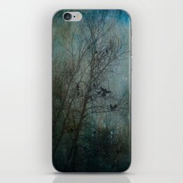Blackbird Convention on a Snowy Day iPhone Skin