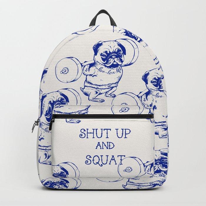 Pug Squat Backpack