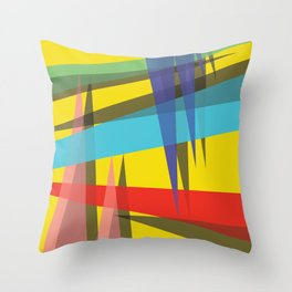 Ambient 19 yellow Throw Pillow