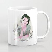 bonjour Mugs featuring Bonjour by LisaArtWork