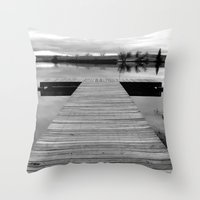 lonely Throw Pillows featuring Lonely by Leah M. Gunther Photography & Design