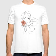 Beauty Blossom SMALL Mens Fitted Tee White