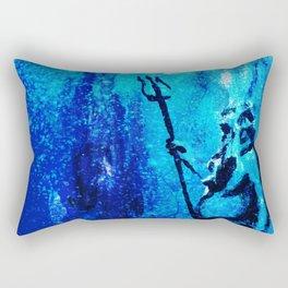 Poseidon, the Greek God of the oceans Rectangular Pillow