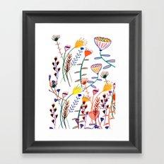 Flowers - floral - flowers - pattern Framed Art Print