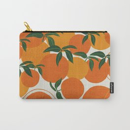 Tangerine orange Carry-All Pouch