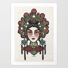 Painted Face Series : Cantonese Opera Singer Art Print