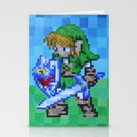 8bit Stationery Cards featuring 8bit Link by Cariann Dominguez