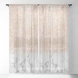 Marble & Stardust Ombre Sheer Curtain