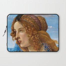 "Sandro Botticelli ""Allegorical Portrait of a Lady (Simonetta Vespucci ?)"" Laptop Sleeve"