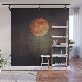 Moon over Dark Mountains Wall Mural