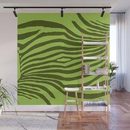Animal Waves (Green Mood) Wall Mural