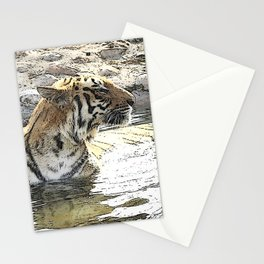 CArt TIger 118 Stationery Cards