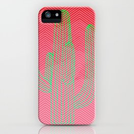 Deserted cactus - chevron pink iPhone Case