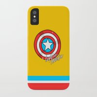 shield iPhone & iPod Cases featuring Shield by Chelsea Herrick