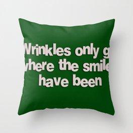 Wrinkles Throw Pillow