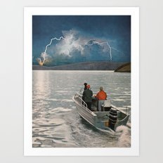 Ride Towards The Lightning Art Print