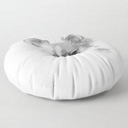 Chihuahua Dog Portrait Black And White #decor #society6 #buyart Floor Pillow