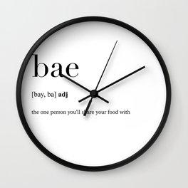 Bae definition Wall Clock