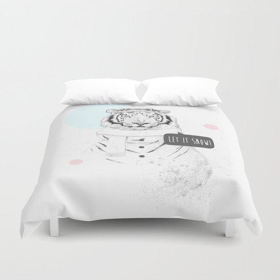 Snow tiger Duvet Cover