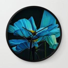 Cool Blue Comos Wall Clock