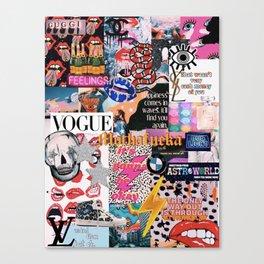collage magazine Canvas Print