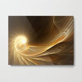 Golden Spiral Metal Print
