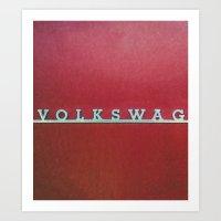 volkswagen Art Prints featuring VolkSWAGen by Ren Davis