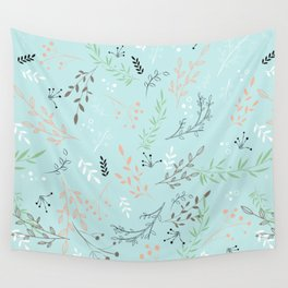 Light And Lovely Spring Floral Garden Pattern Wall Tapestry