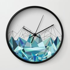 Colorflash 3 Turquoise Wall Clock