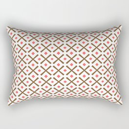 Chocolate Brown + Coral:  Pattern No.3 Rectangular Pillow