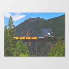 Georgetown Loop Railroad above Georgetown, Colorado Canvas Print