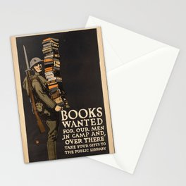 Vintage poster - Books Wanted Stationery Cards