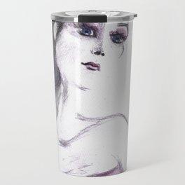 Fashion Illustration Portrait  Travel Mug