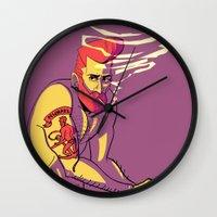michael scott Wall Clocks featuring MICHAEL by engelen