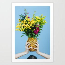 THE COLLECTOR - PINEAPPLE FLOWER Art Print
