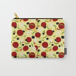 Pizza Toppings Pattern Carry-All Pouch