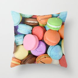 Delicious Macaroons Throw Pillow