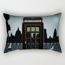 Vintage Travel Poster - London Rectangular Pillow