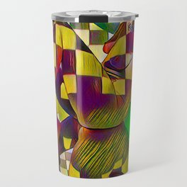 6097-KMA Checkerboard Nude Sitting on Mirror Travel Mug