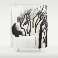 my little pony Shower Curtains featuring My Little Pony by Autumn Steam