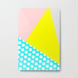 Warm Colors Pattern Metal Print