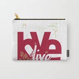 Love & Live (leaves 1) Carry-All Pouch