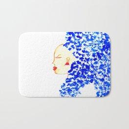 Blue Cleopatra Bath Mat