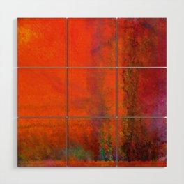 Orange Study #3 Digital Painting Wood Wall Art