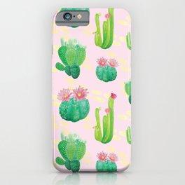 Cacti Pattern iPhone Case