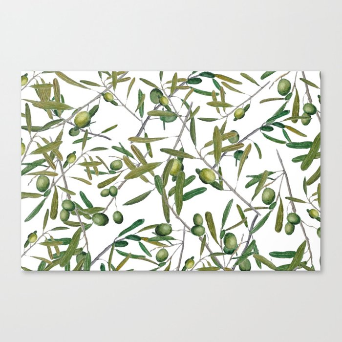 olive pattern Canvas Print