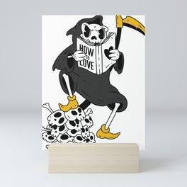 Grim Reaper Reading Mini Art Print