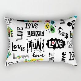 More Love Words Rectangular Pillow