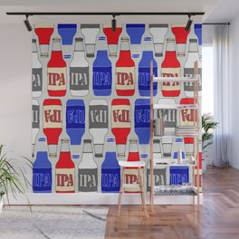 red white and blue IPA beer pattern Wall Mural