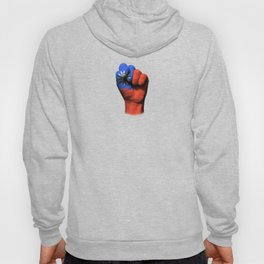 Taiwanese Flag on a Raised Clenched Fist Hoody